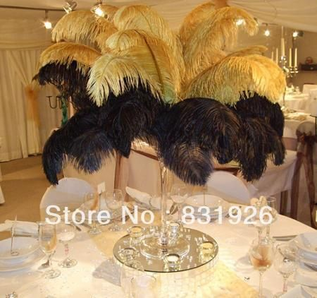 Gold Ostrich Feathers