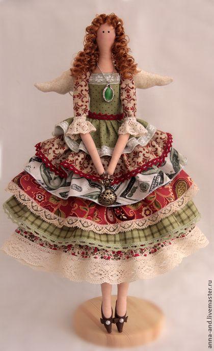 Куклы Тильды ручной работы. Ярмарка Мастеров - ручная работа Ангел достатка (по мотивам). Handmade.
