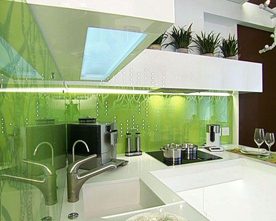 green kitchen salpicaderos Pinterest Salpicadero cocina