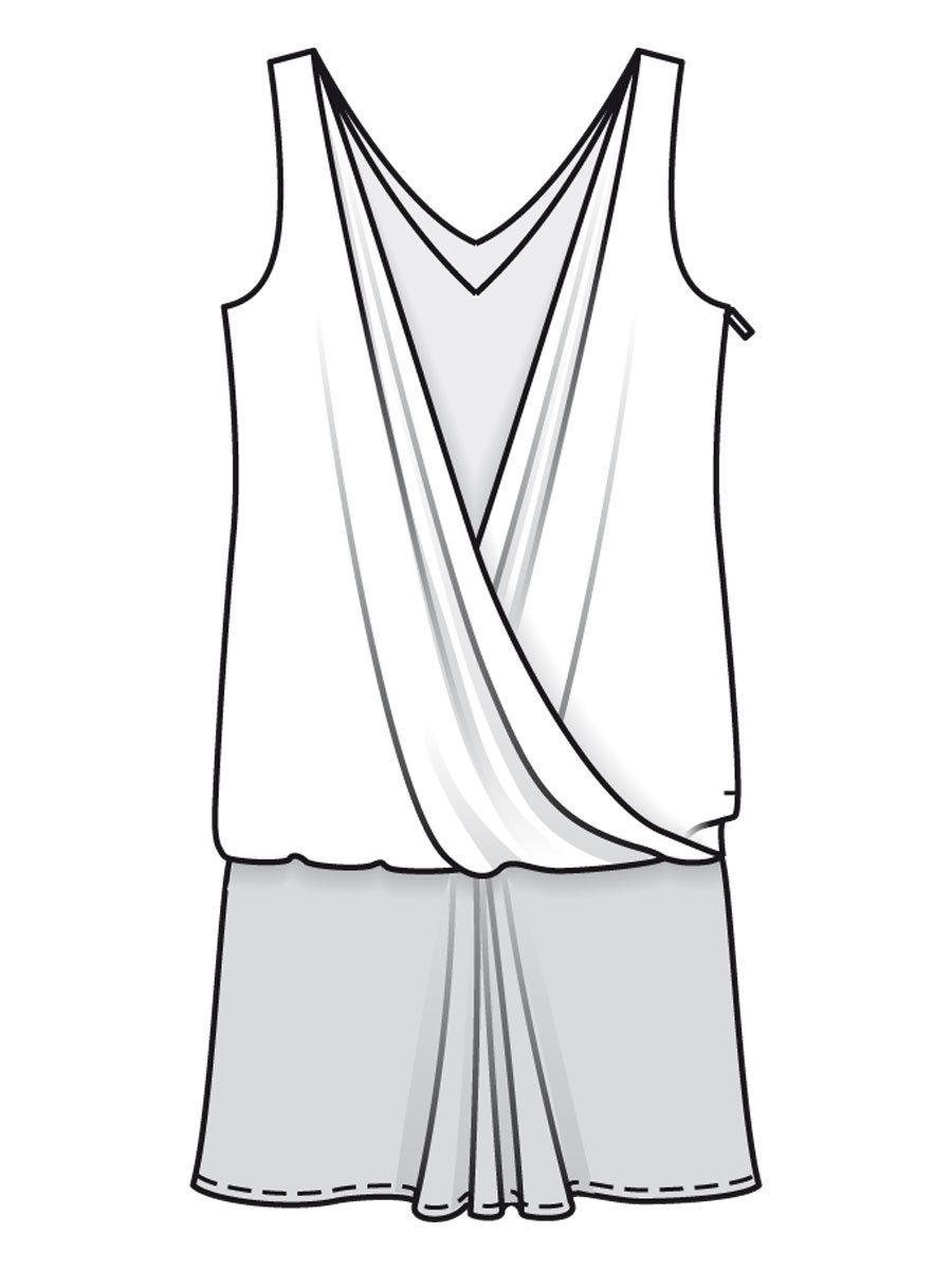 Kleid 126 - Gr. 34 - 42 - burda Schnittmuster Download - burda style ...
