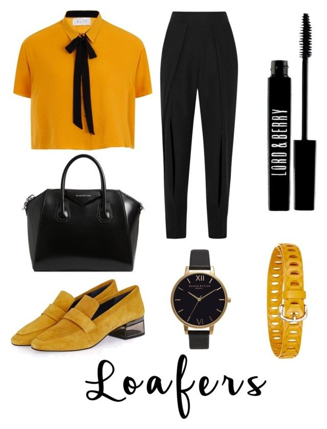 """""""black and yellow"""" by nataliehogann ❤ liked on Polyvore featuring Topshop, Jonathan Simkhai, Elvi, Givenchy, Olivia Burton, Lord & Berry and Étoile Isabel Marant"""