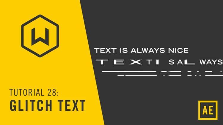 Tutorial 28 Glitch Text Glitch text, Tutorial
