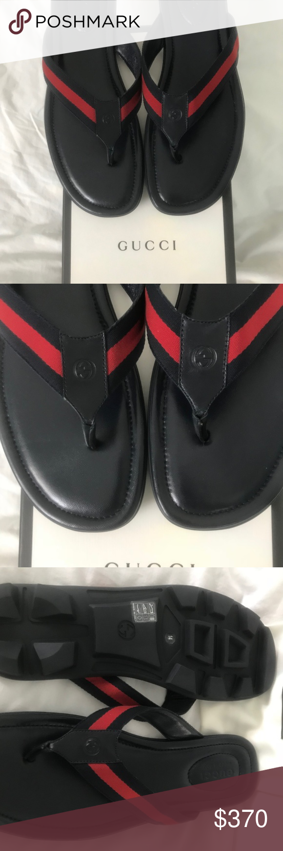 7d0d484b1b53 Never worn brand new Gucci Mens Titan Thong Sandal A signature Gucci web  strap imbues these sun-ready sandals with an instantly recognizable flair.