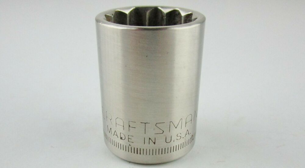 21mm Metric Craftsman Socket 44249 G Made In Usa 1 2 Drive Craftsman Craftsman Metric Sockets