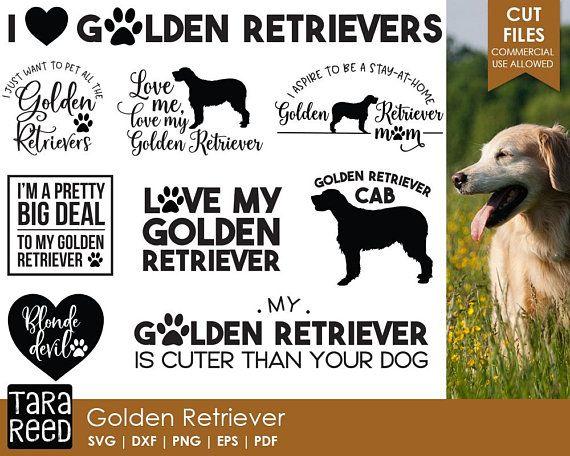 Golden Retriever Svg And Cut Files For Crafters Cricut Pinterest