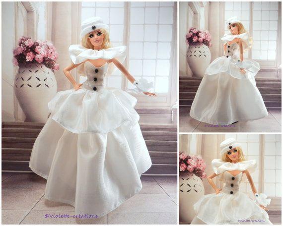 robe de princesse Colombine pour poupée barbie par violette55