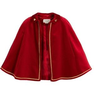296564ff2c7 Gucci Girls Red Velvet Cape