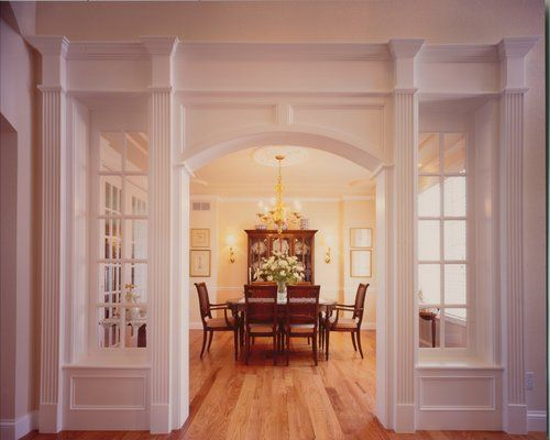 Arched Entry Way Into Dining Room
