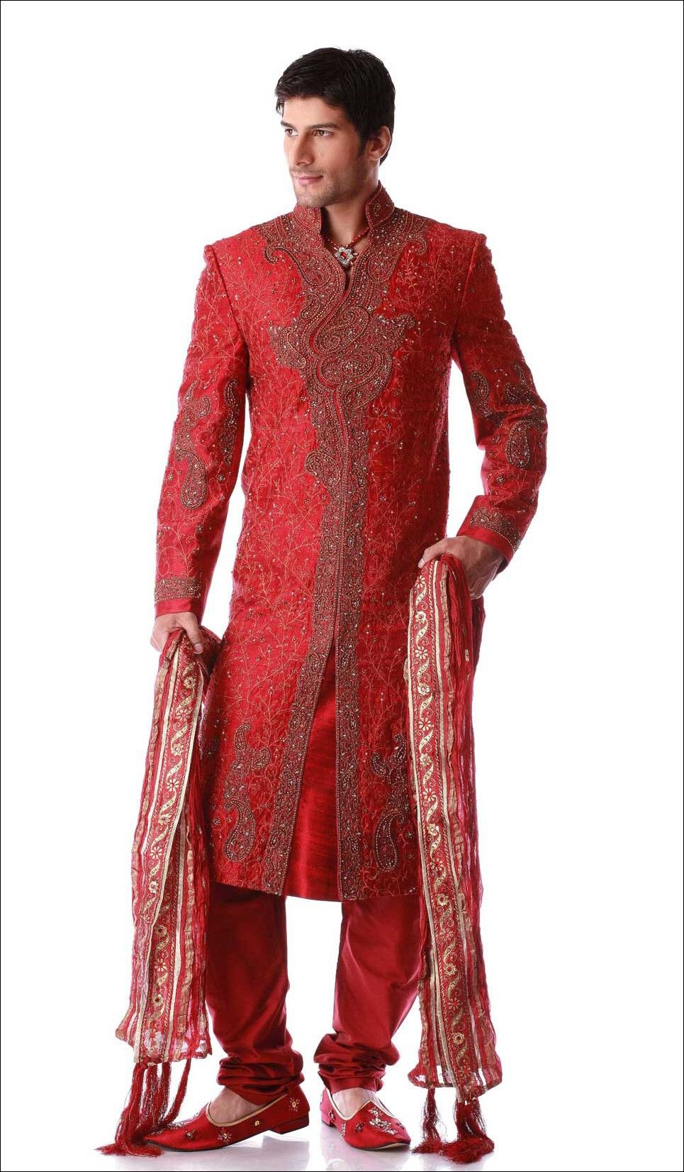 Stylish wedding sherwanis for men red ღ he u ღ she ud ღ love