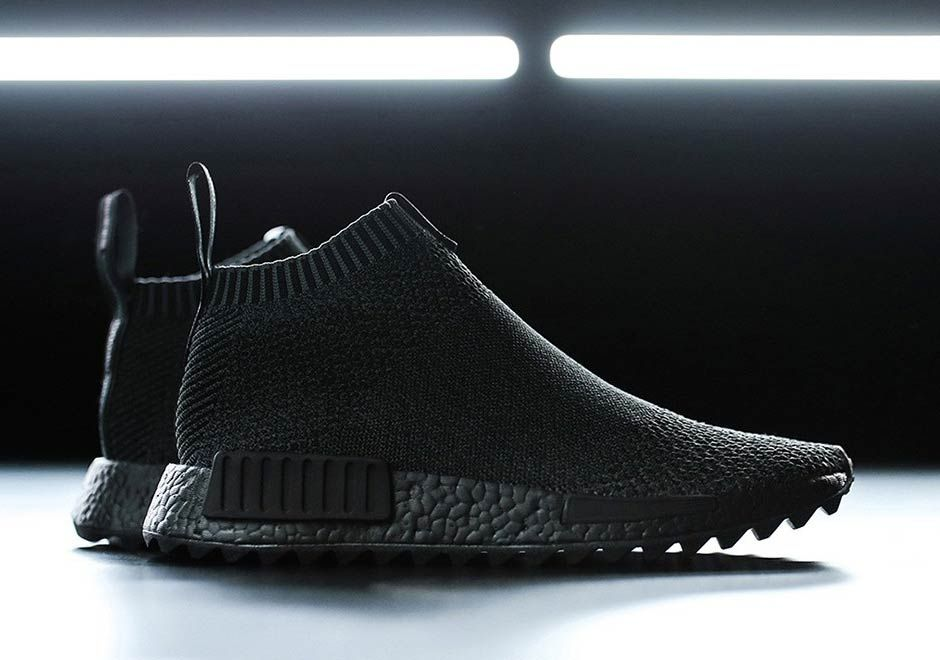 """Up Close with the New adidas NMD City Sock """"Triple Black"""
