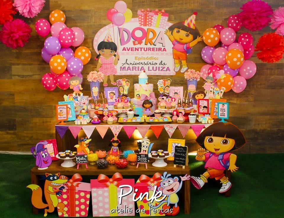 Dora The Explorer Birthday Party Explorer Birthday Party Dora Birthday Party Ideas Dora The Explorer