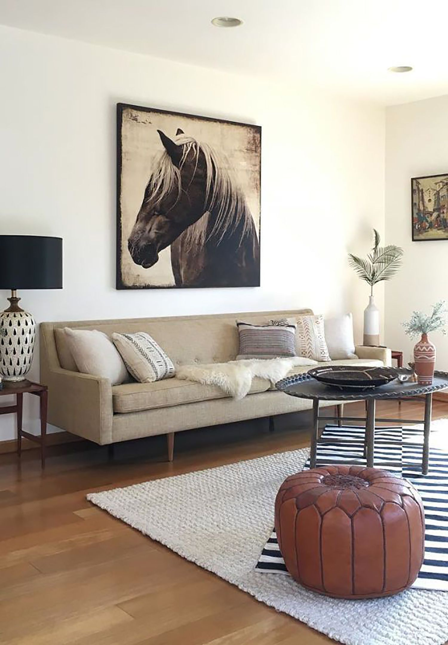 Design The Platform Experiment We Layered Two Rugs In This Space And It St Layered Rugs Living Room Tribal Decor Living Room Rugs In Living Room