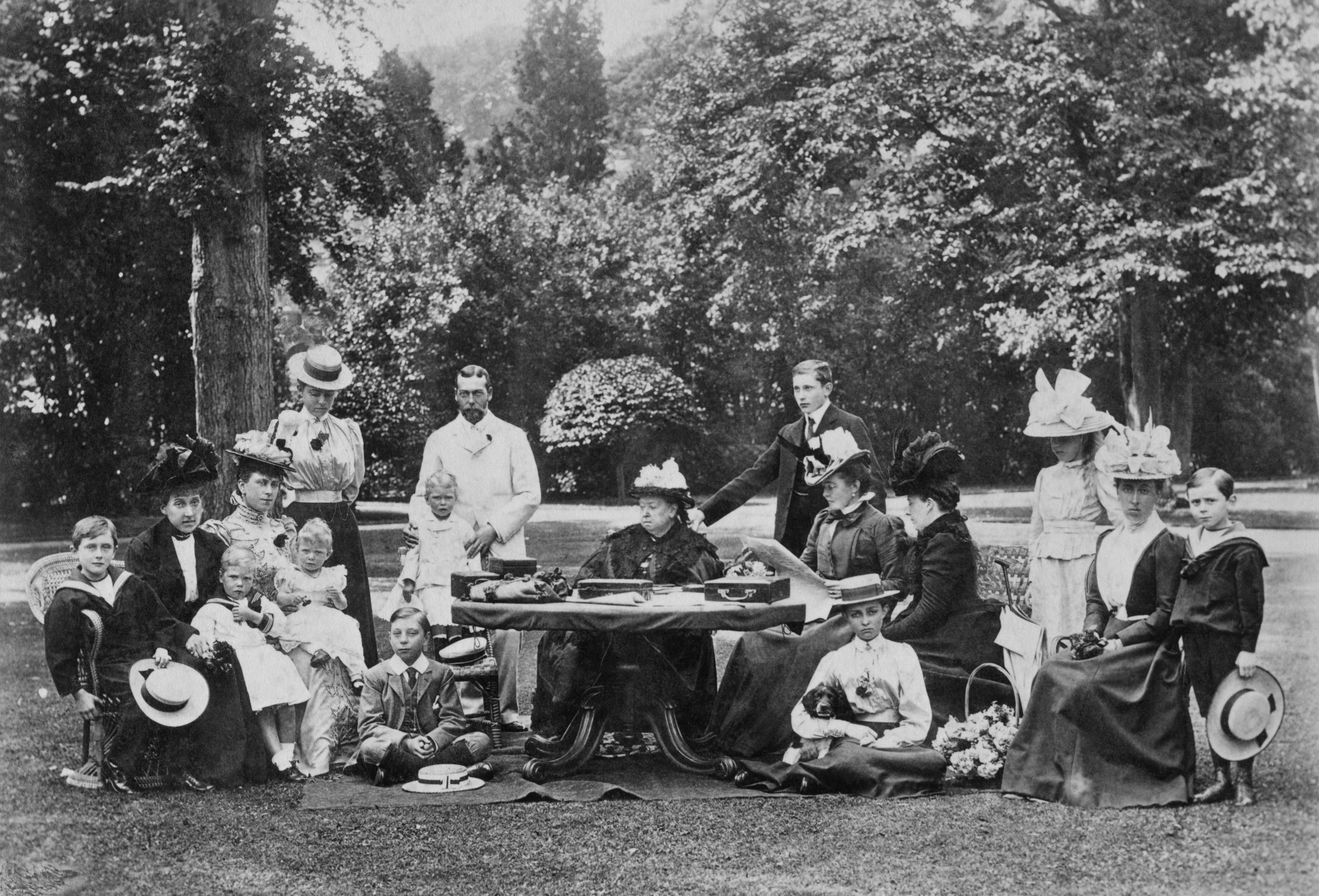 queen Victoria with members of her family