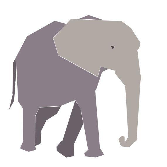 African Elephant paper-piecing quilt pattern, PDF | Elefanten ...