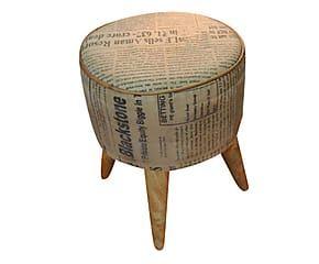 Sgabello in legno e tessuto news cm arredi rustici e