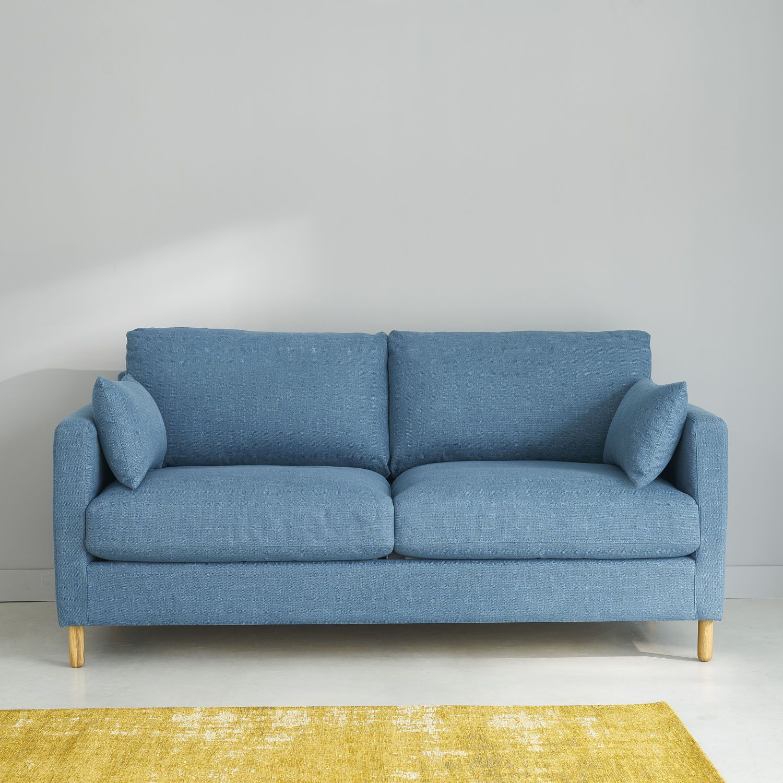 Petrol Blue 3 Seater Sofa Bed Maisons Du Monde Diseno De Interiores Salas Decoracion De Apartamentos Sofa De La Sala
