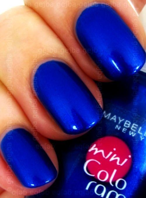 Hot Blue Nails
