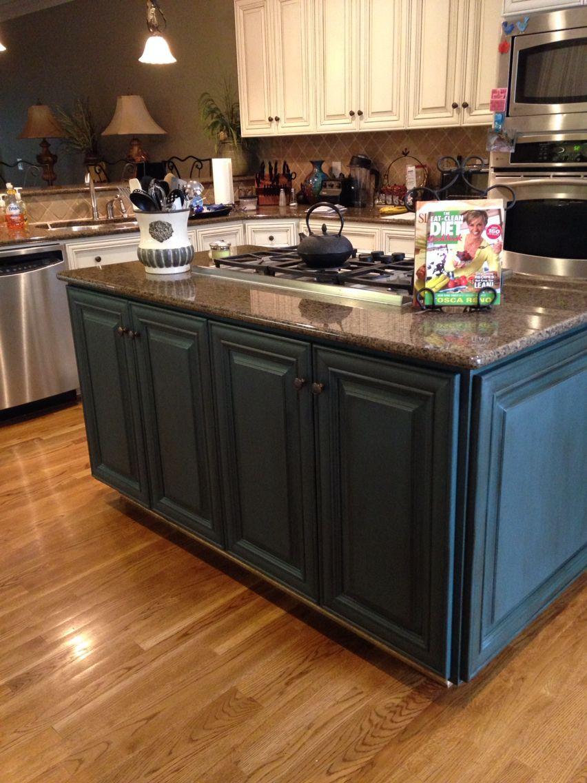 Aubusson Blue Chalk Paint By Annie Sloan With Dark Wax Bathroomvani Chalk Paint Kitchen Cabinets Annie Sloan Chalk Paint Kitchen Cabinets Chalk Paint Kitchen