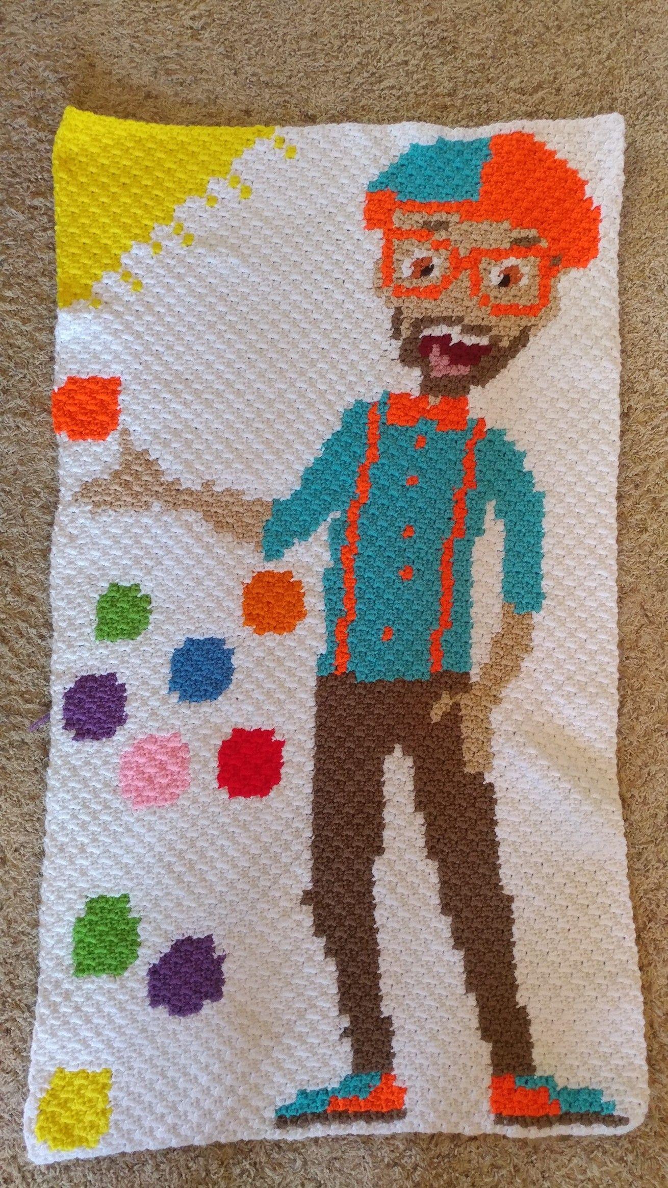 Blippi! 1st C2C design creation. | Crochet | Pinterest