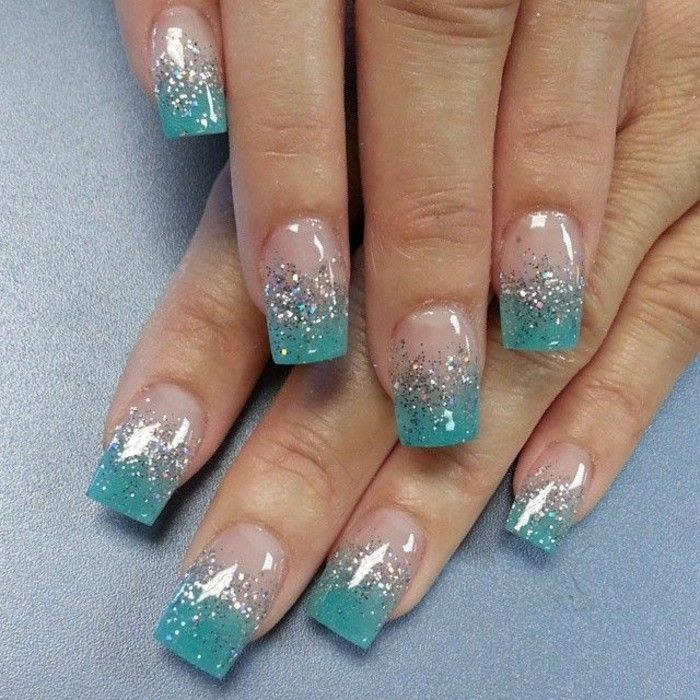 fantastische nageldesigns mit glitzer nagellack nageldesign nageldesigns nageldesign und