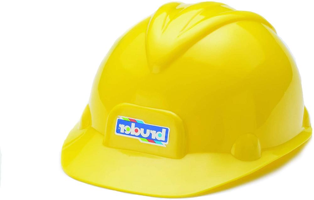 Amazon Com Bruder Toys Construction Worker Hard Hat Yellow Helmet Toys Games Hard Hat Light Up Hats Hats
