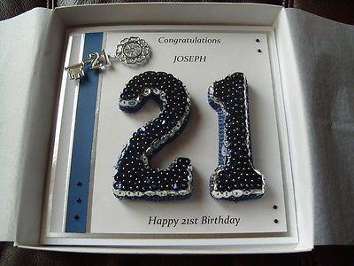 Handmade Personalised Boxed Male 21st Birthday Card Ebay Crafts