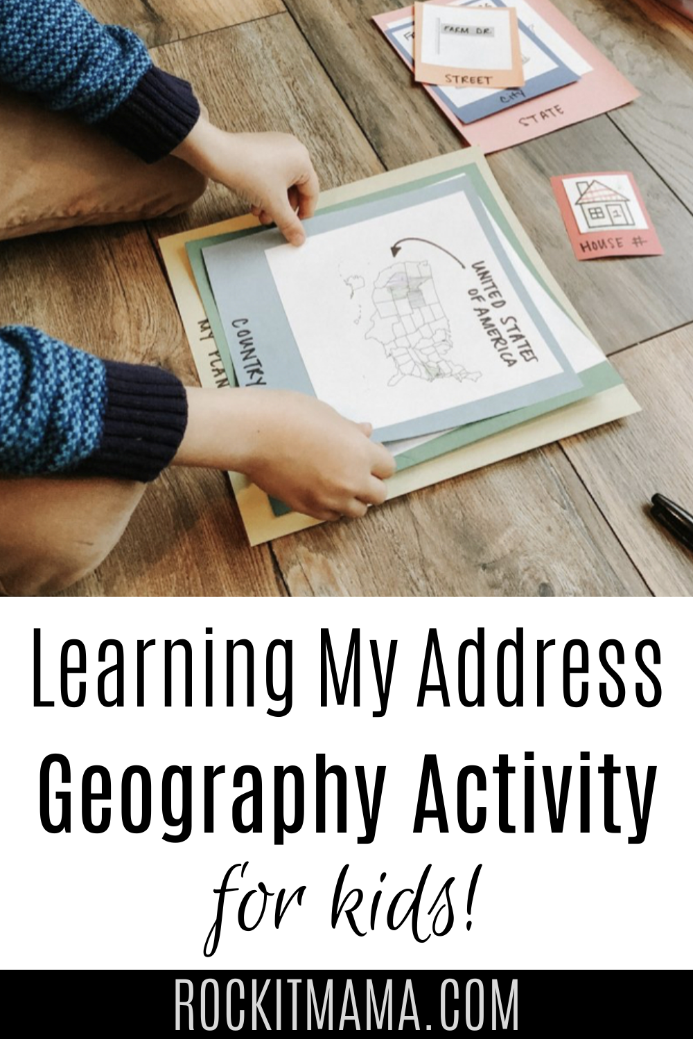 Photo of Where Do I Live? Kid Activity – Introducing Geography and Teaching Kids Their Address – Rock it Mama