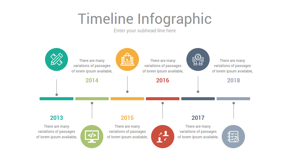 timeline infographics google slides presentation template diagrams  google u2026