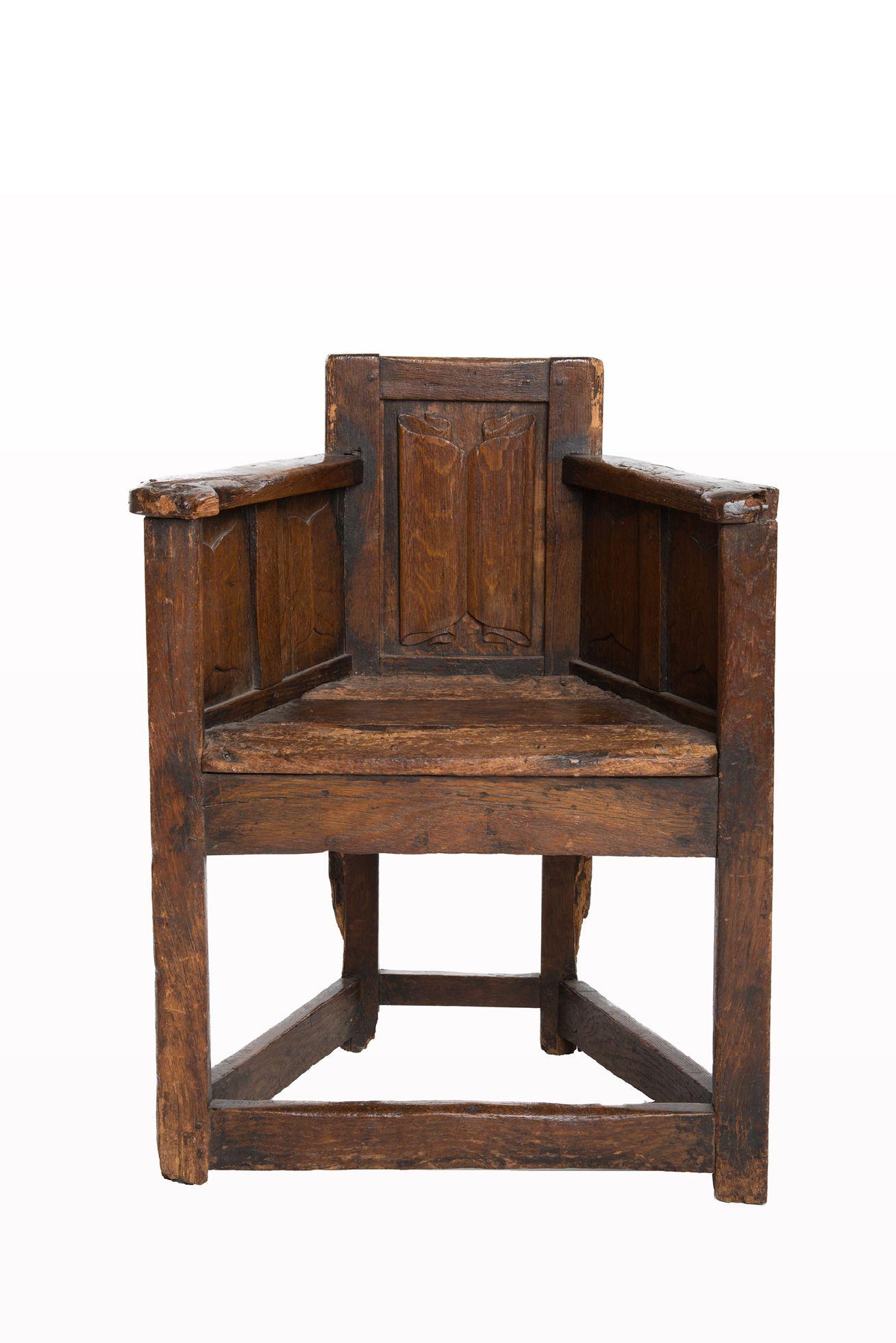 Gothic Linenfold Armchair Circa 1460 1480 Marhamchurch Antiques  # Muebles Renacentistas