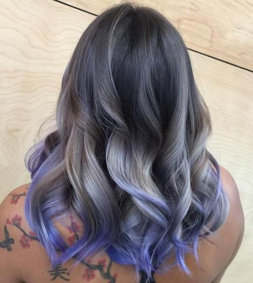 20 Shades Of The Grey Hair Trend With Images Blonde And Blue