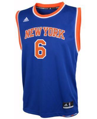 9b6da1a09 adidas Kids  Kristaps Porzingis New York Knicks Revolution 30 Jersey ...