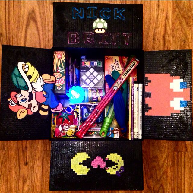 Arcade Game Theme Care Package For My Military Boyfriend