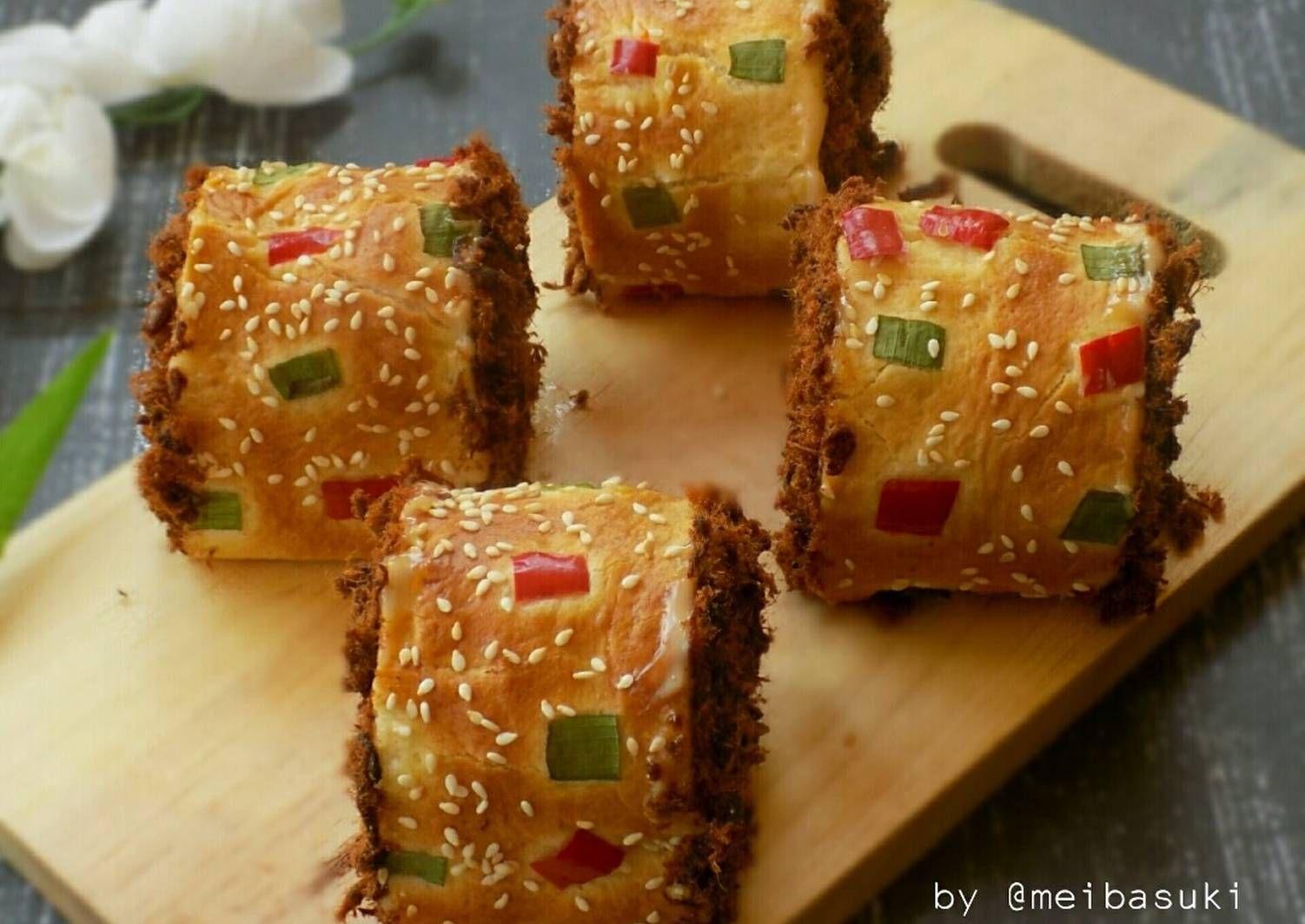 Resep Beef Floss Roll Bun Roti Gulung Abon Sapi Oleh Mei Basuki Resep Rotis Roti Gulung Sapi