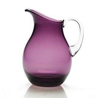 coloured glass jug