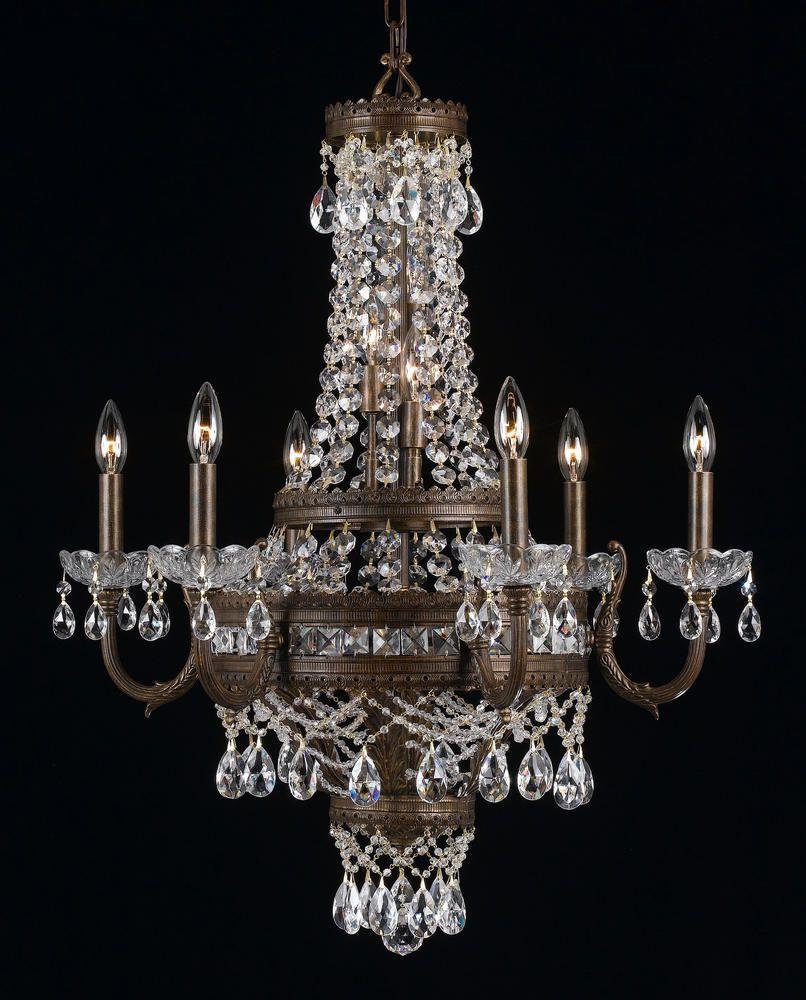 Classic twelve Light Bronze Up Chandelier : SKU V110-68916-ebg-cp | New Metal Crafts, Inc.43 h 27 w