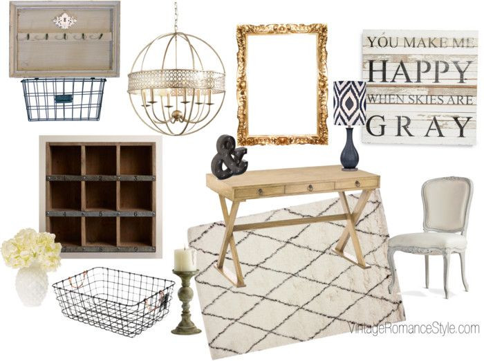 Rustic Glam Closet Office Inspiration