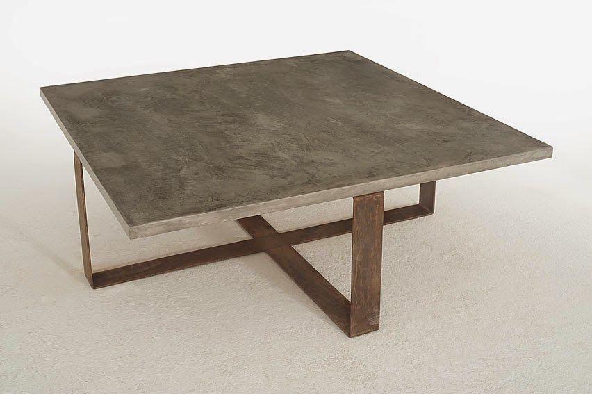 mesa de centro diseño MadEco Pinterest Tables, Concrete and Metals