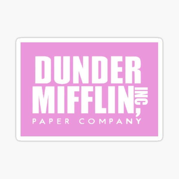 The Office Dunder Mifflin Paper Company Logo Yellow Sticker By Bestofficememes Redbubble Paper Companies Mifflin Logo Yellow