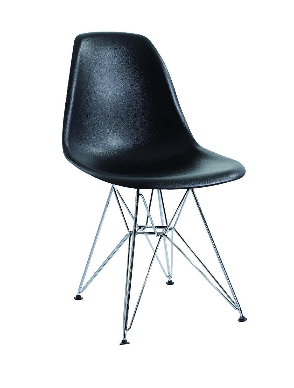 eurosilla st003 – stuhl für esszimmer, 81 x 47 x 56 cm, schwarz, Esszimmer