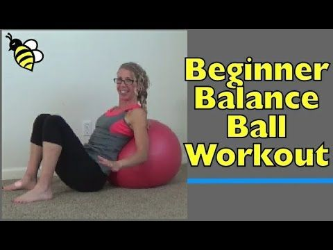 15 minute beginner balance ball workout  exercise at home