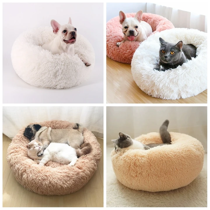 Cat Beds Round Comfy Calming Dog Bed For Cats Soothing Bed