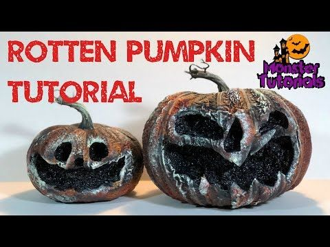 Easy Rotten Pumpkins Tutorial - YouTube halloween decor