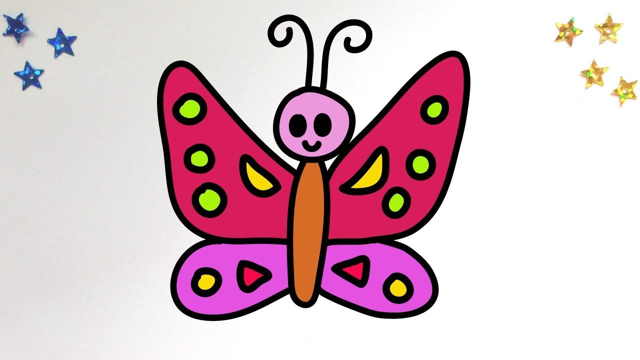How To Draw A Cute Butterfly