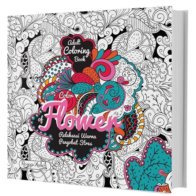 COLORING BOOK COLOR OF FLOWER