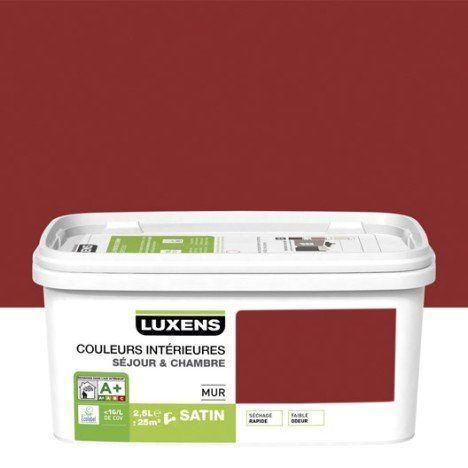 Peinture rouge gourmand 2 LUXENS Couleurs intérieures 25 l - peinture satin ou mat