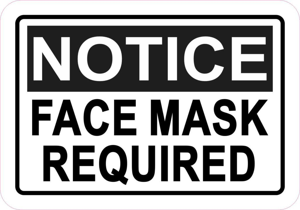 Stickertalk Notice Face Mask Required Magnet 5 Inches X 3 5 Inches In 2020 Hand Washing Poster Face Mask Black Letter