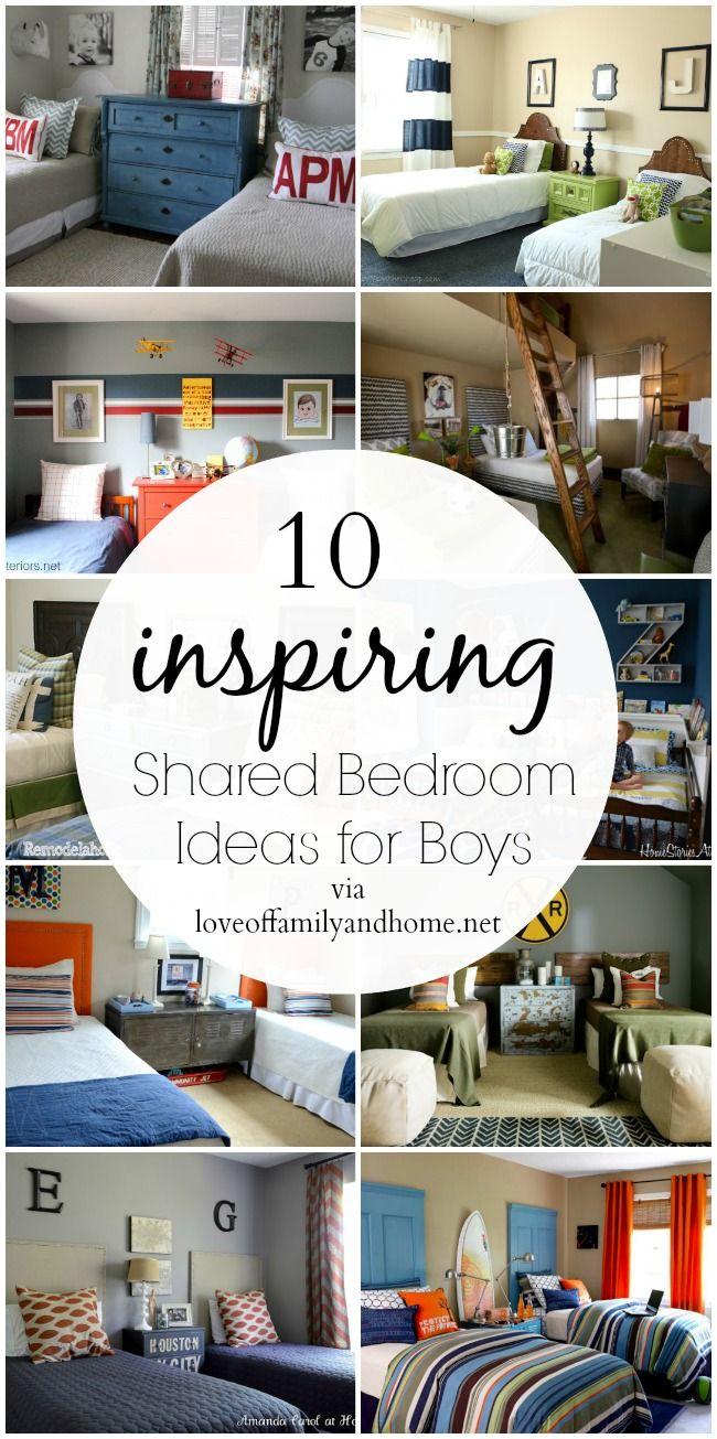 10 Shared Boys Bedroom Ideas Love Of Family Home Big Boy Bedrooms Boys Shared Bedroom Shared Bedroom