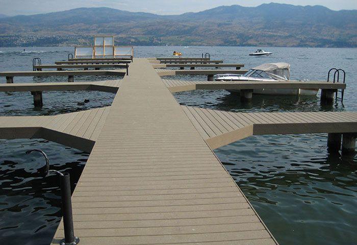 Wooden Composite Wpc Dock Deck Docks Marinas Amp Boat