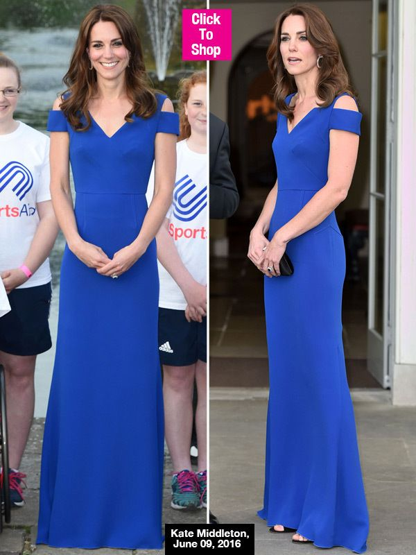 Kate Middleton Looks Flawless In $3,710 Skin-Tight Royal Blue Gown ...
