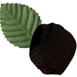 Pétale de rose noire avec feuilles vertes en tissu Les 100, déco, Halloween